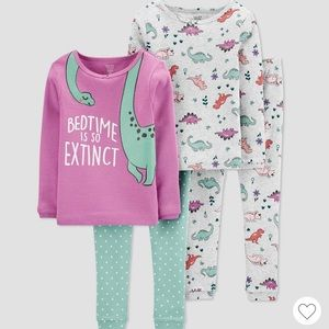 NWT Carter's girl dinosaurs pajamas (2-pack)